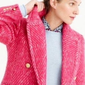 J. Crew Diamond Tweed Coat 8